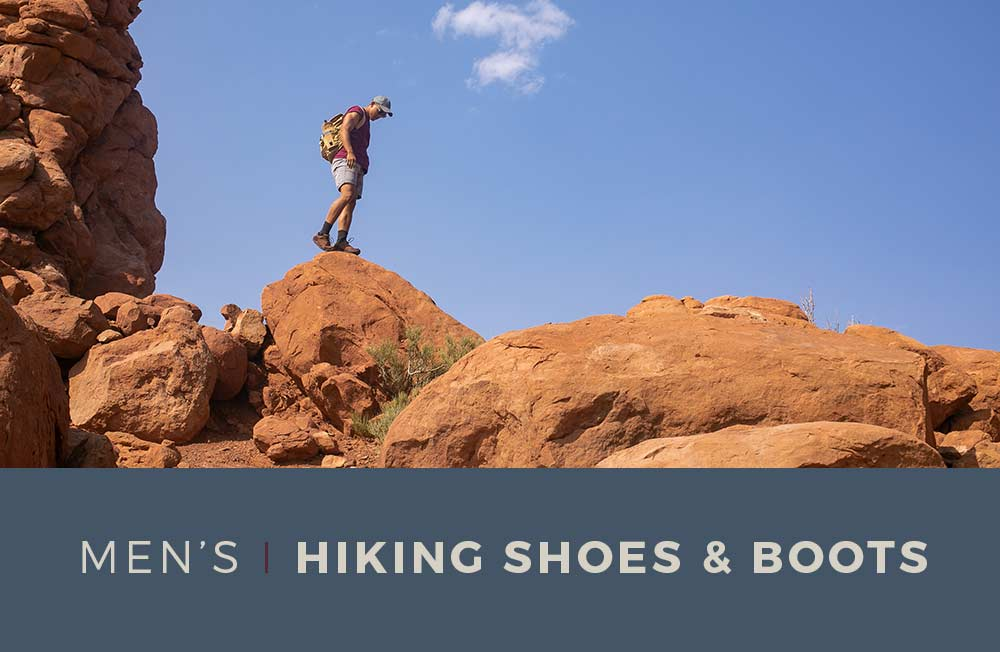 Category Banner- Men's Hiking Shoes & Boots